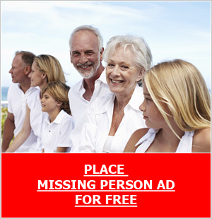 Place missing person ad for free